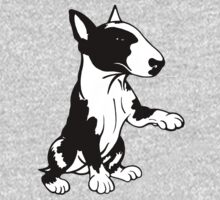 Coloured English Bull Terrier  One Piece - Long Sleeve