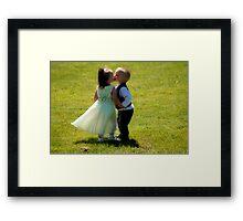 First Kiss Framed Print