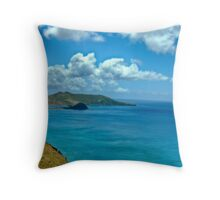Caribbean View Throw Pillow