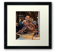 The Sculpture At Work Framed Print