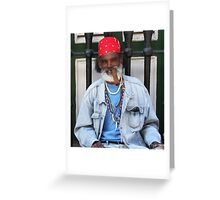 Old Timer (Cuba) Greeting Card