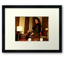 Countess Steamworthy by candle light Framed Print
