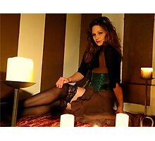 Countess Steamworthy by candle light Photographic Print