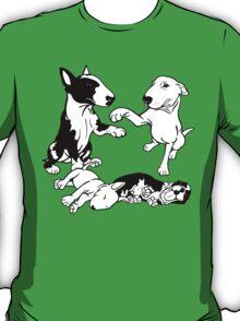 English Bull Terrier Family  T-Shirt