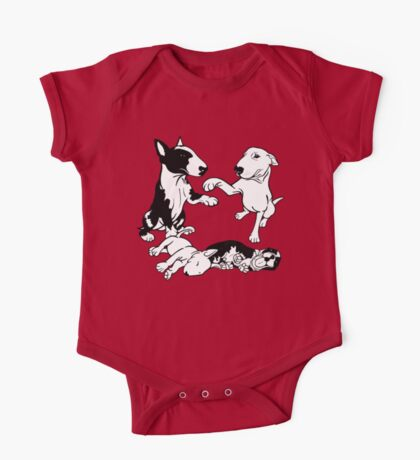 English Bull Terrier Family  One Piece - Short Sleeve