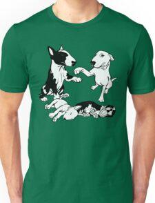 English Bull Terrier Family  Unisex T-Shirt