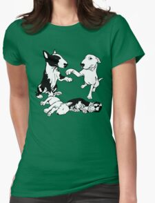 English Bull Terrier Family  Womens Fitted T-Shirt