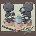 Ninja Tea Time by dooomcat