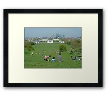 Greenwich Park on Holiday Framed Print