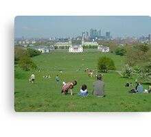 Greenwich Park on Holiday Canvas Print