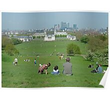Greenwich Park on Holiday Poster
