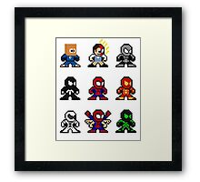 8-bit Spider-Man Through the Ages Framed Print