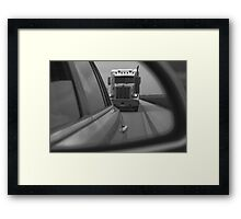 Semi Close Framed Print