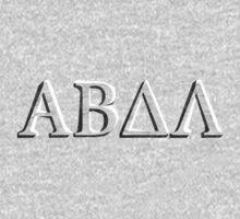 Alpha Beta Delta Lambda Greek (ABDL) Chiselled Stone Lettering by toddlander