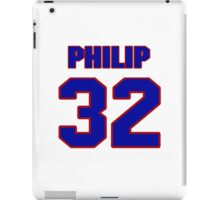 National football player Philip Sylvester jersey 32 iPad Case/Skin
