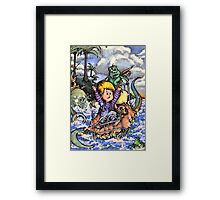 Sailing the Crazy Bed Boat Through Craziness. (Which is pretty crazy) Framed Print