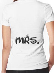 MRS. Women's Fitted V-Neck T-Shirt