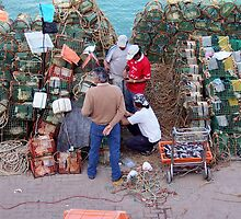 Fisherman in Cascais, Portugal by CherylBee
