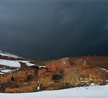 Before storm in the mountains village (Afghanistan) by Antanas