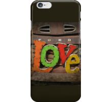 Love and a Ford Truck iPhone Case/Skin
