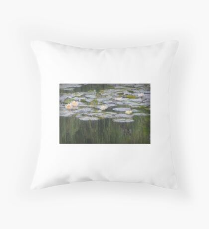 Impressionistic Water Lilies  Throw Pillow