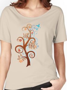 Two Trees and Butterflies Women's Relaxed Fit T-Shirt