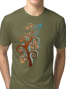 Two Trees and Butterflies Tri-blend T-Shirt