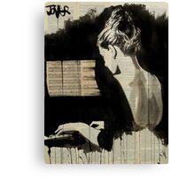 her sonata Canvas Print