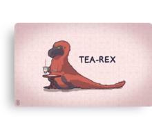 Fluffy Tea-Rex Canvas Print