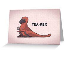 Fluffy Tea-Rex Greeting Card