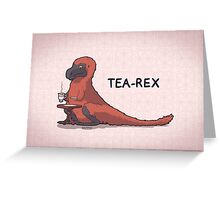 Fluffy Tea-Rex Greeting Card