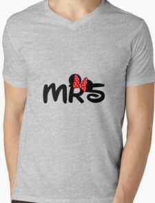 Mrs.Mouse Mens V-Neck T-Shirt