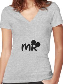 Mr.Mouse Women's Fitted V-Neck T-Shirt