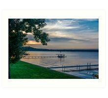 Saratoga Lake Art Print