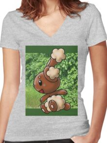 Buneary Women's Fitted V-Neck T-Shirt