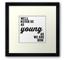 5SOS Never Be Lyrics Framed Print