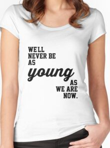 5SOS Never Be Lyrics Women's Fitted Scoop T-Shirt