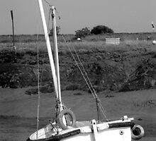 Beached boat, Woodrolfe Creek, Essex  by newbeltane