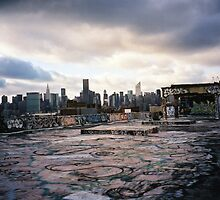 New York Skyline from Roof of Phun Factory, aka 5 Pointz, 2001 by matthewisles