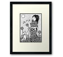 Walking With Jasmine  Framed Print