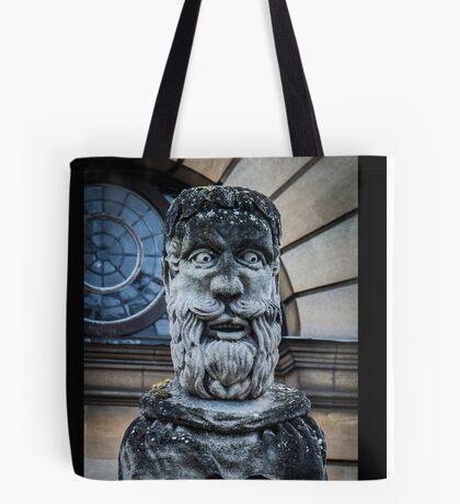 Comical Statue at Oxford University Tote Bag