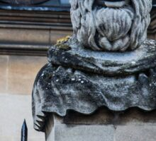 Comical Statue at Oxford University Sticker