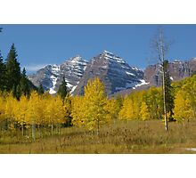 Autunm at Maroon Bells Photographic Print
