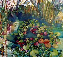 water lillies by elisabetta trevisan