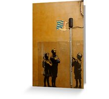 Banksy - Tesco  Greeting Card