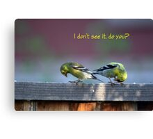 Goldfinch Bow Canvas Print
