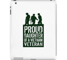Patriotic 'Proud Daughter of a Vietnam Veteran' Ladies T-Shirt and Gifts iPad Case/Skin