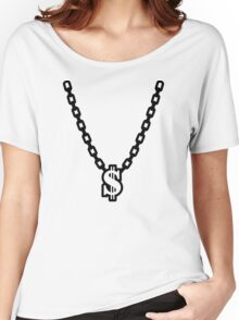 Necklace dollar Women's Relaxed Fit T-Shirt