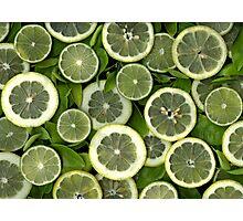 Lemon And Lime Photographic Print