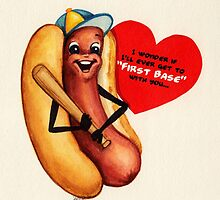 Valentine's Day! Hot Dog Valentine by Kelly  Gilleran